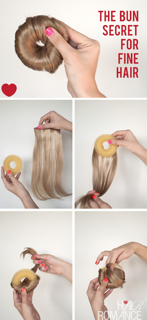 How To Make The Perfect Hair Donut For Fine Hair Hair Romance