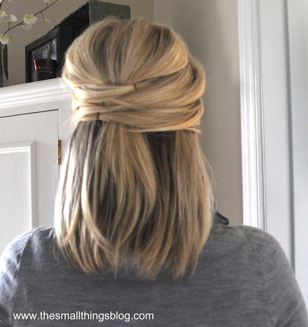 Half Up Straight Hairstyles For Weddings: Elegant Half-up Hairstyle How To From The Small Things