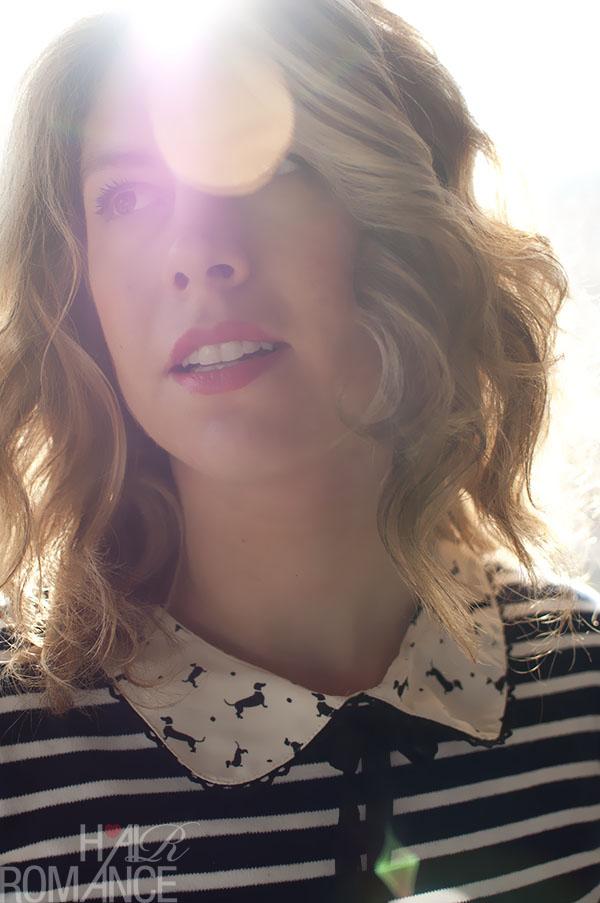 Hair Romance - curled hair - with added sunburst