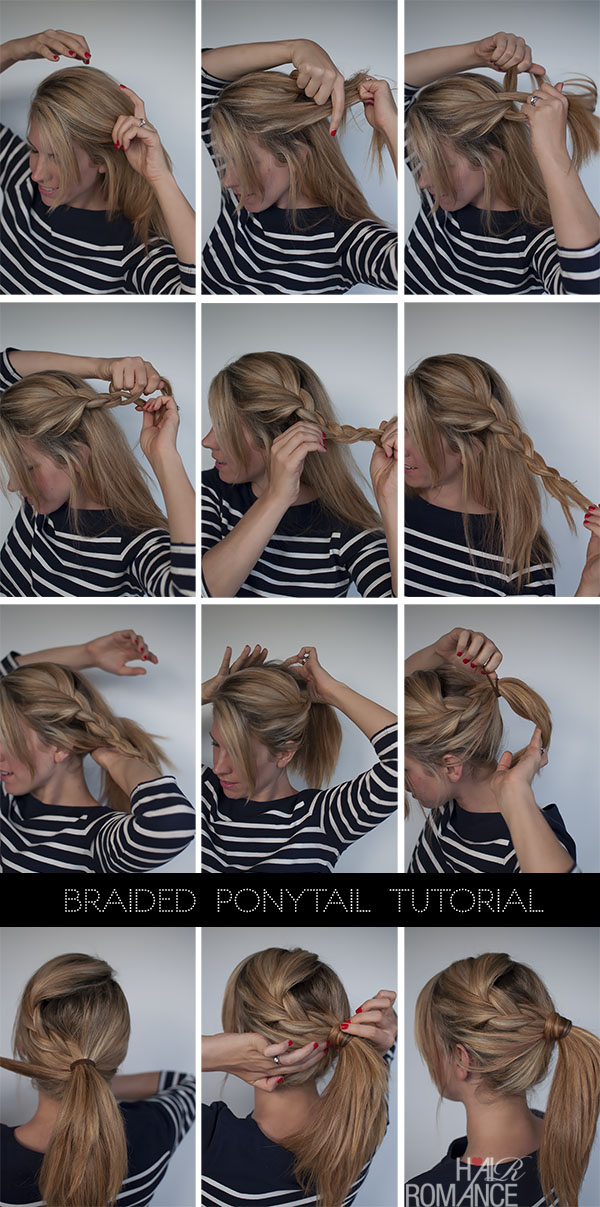 Easy Braided Ponytail Hairstyle How To Hair Romance