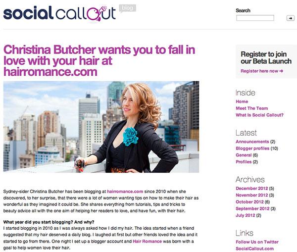 Hair Romance on Social Callout