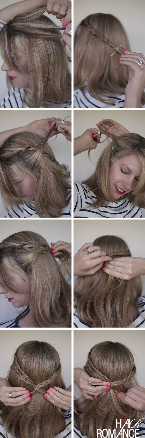 Triple tied braid hairstyle how to