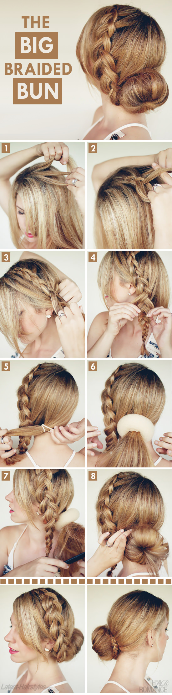 Big Braided Bun Hair Tutorial On Latest Hairstyles Hair Romance