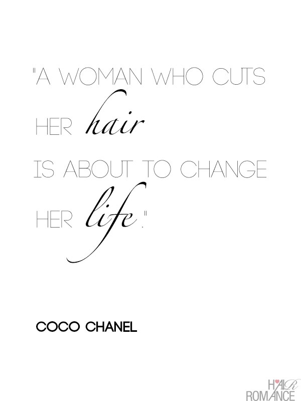 A woman who cuts her hair is about to change her life , Coco