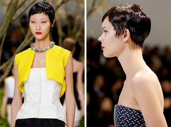 Christan Dior Couture - Pixie crop hair - Jan 2013