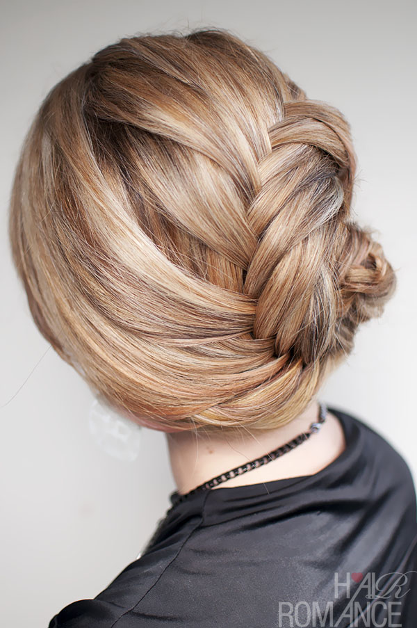 Hair Romance - French fishtail braided chignon hairstyle