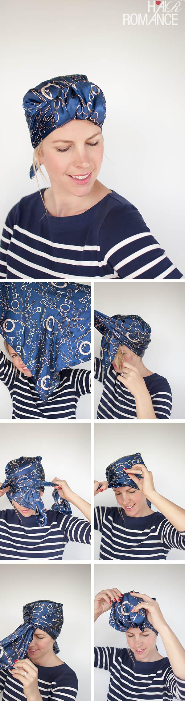 Hair Romance - Headscarf three ways - sleek urban turban