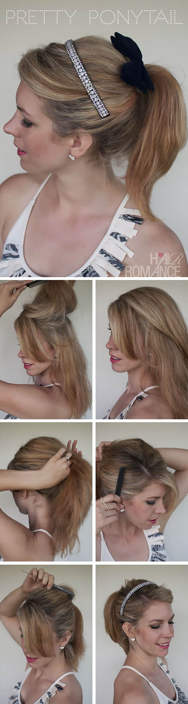Pretty Ponytail Tutorial by Hair Romance