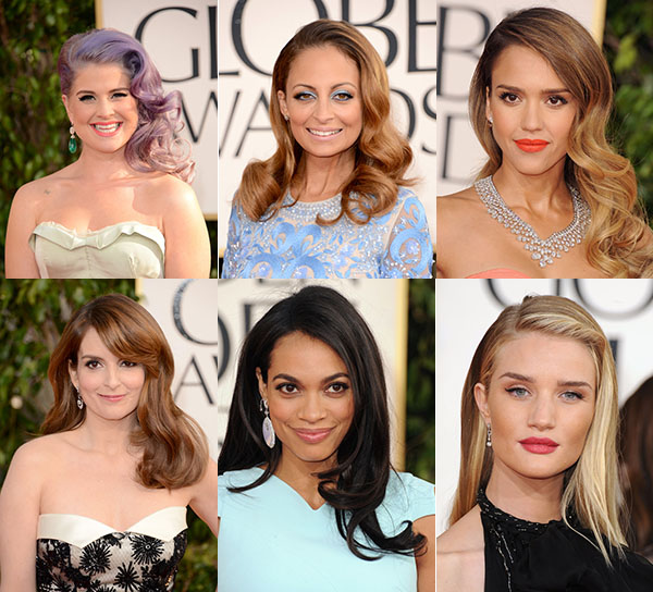 Red Carpet hair trend - Side sweep to the left - Golden Globes 2013
