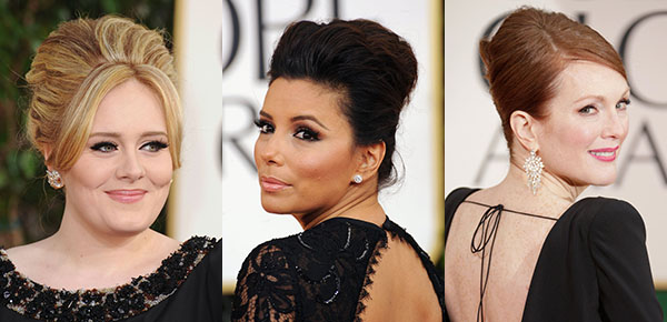 Red Carpet hair trend - beehive - Golden Globes 2013