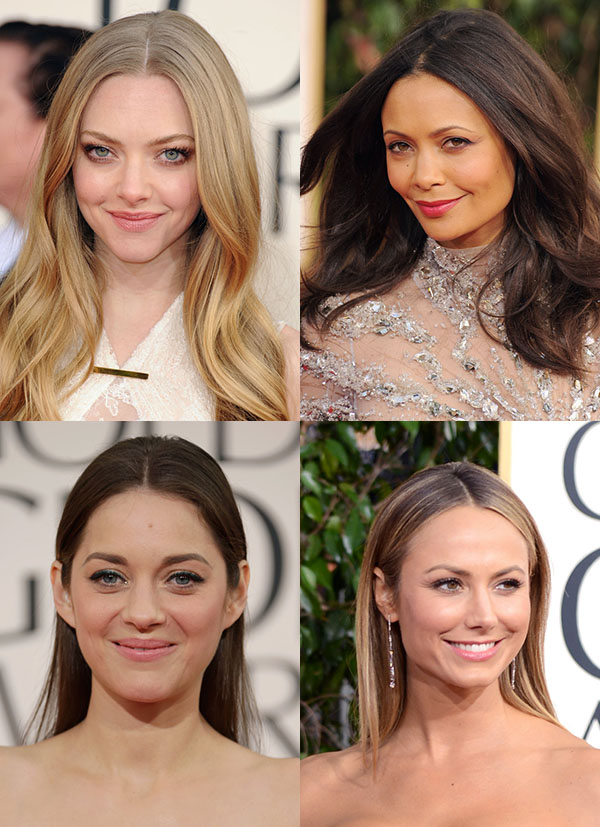 Red Carpet hair trend - centre parts - Golden Globes 2013