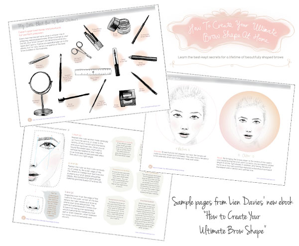 Sample pages from How to Create Your Ultimate Brow Shape by Lien Davies