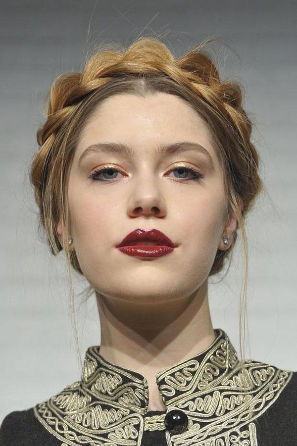 Alice Olivia NYFW 2013 hair - braid