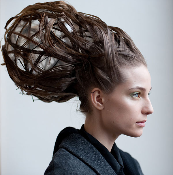 BIG hair at the Maurizio Galante Paris Couture show