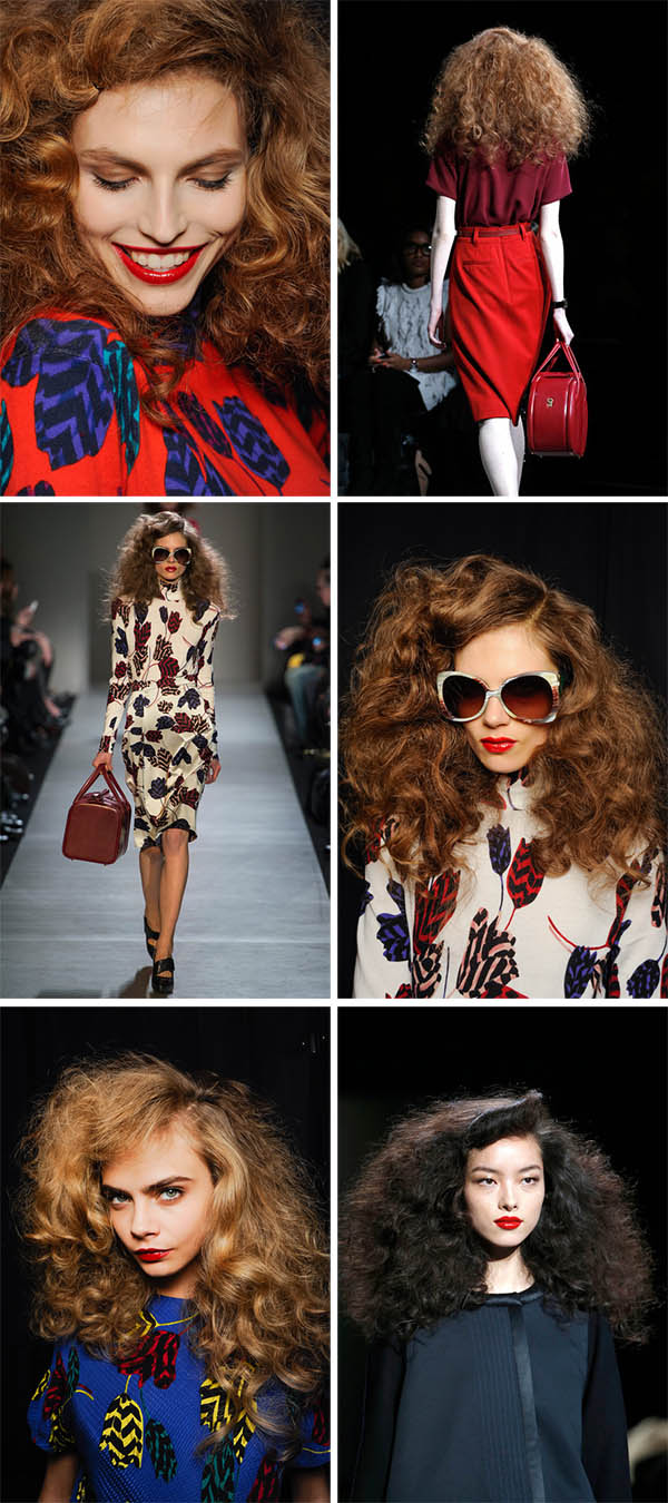 Big Hair at Marc by Marc Jacobs NYFW FW 2013