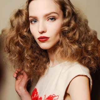 Big Hair Friday – Bottega Veneta girls with fluffy curls