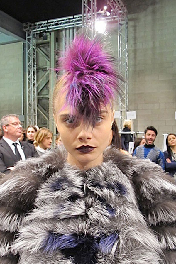 Cara Delevingne at Fendi