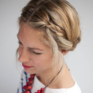 Valentino inspired double braid updo tutorial