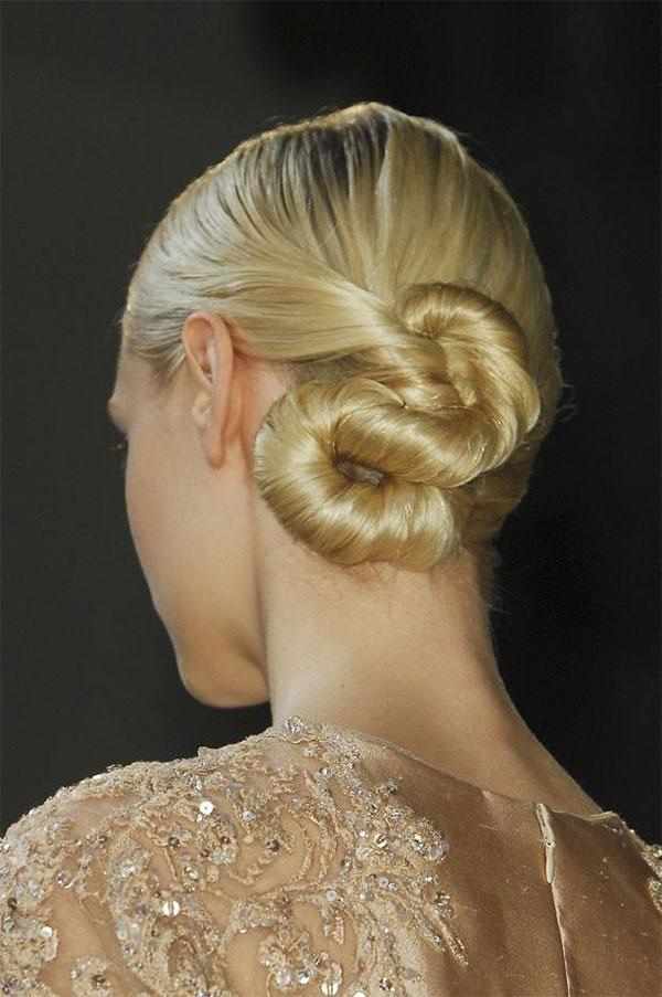 Elie Saab Couture Paris 2013 twisted chignons