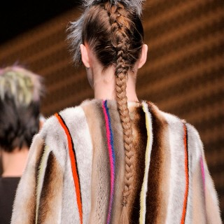 Big Hair Friday: Furry Faux-hawks at Fendi