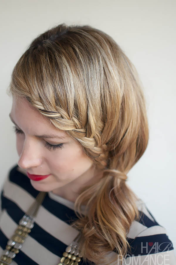 Hair Romance - Lace Braid Ponytail Hairstyle
