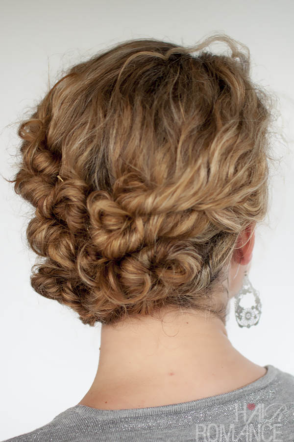 Hair Romance - easy twist & pin updo for curly hair