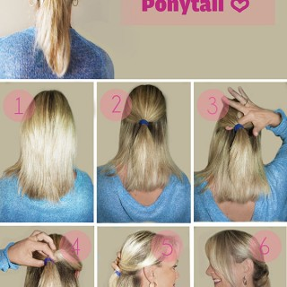 Hairstyle Tutorial: Topsy Turvy Ponytail