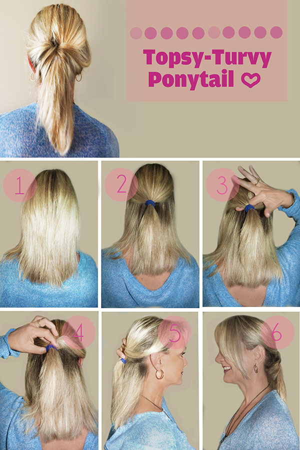 Hairstyle Tutorial Topsy Turvy Ponytail Hair Romance