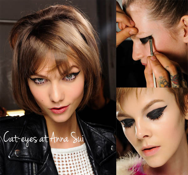 NYFW Beauty trends to try now - Cat-eyes at Anna Sui
