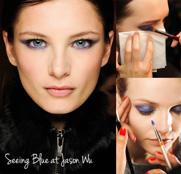 NYFW Beauty trends to try now - Seeing Blue at Jason Wu