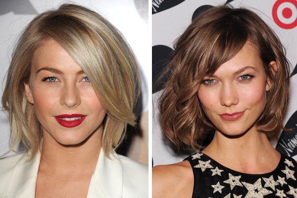 Short Hairstyle trends - Julianne Hough - Karlie Kloss