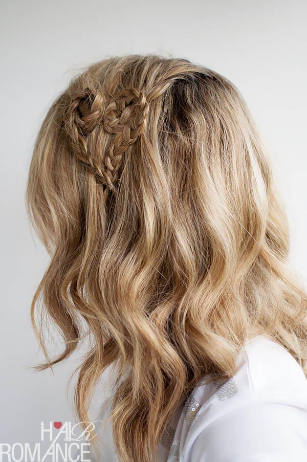Valentine's Day Hairstyle - Heart Braid by Hair Romance