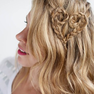 Valentine's Day Hairstyle Tutorial – Heart Braid Hairstyle