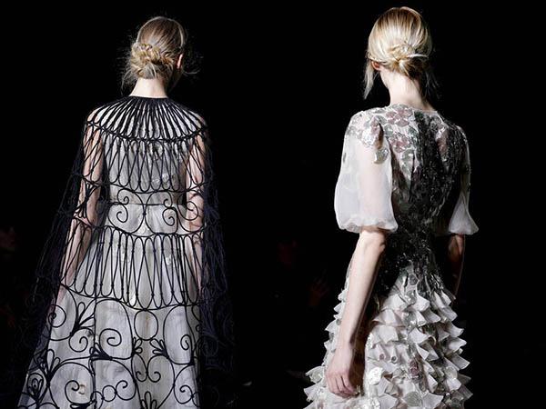 Valentino braid chignons - Paris Couture hair 2013
