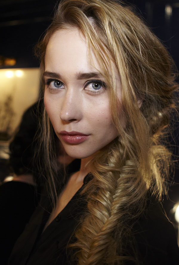 Veronica Beard NYFW backstage - Fishtail braids by Original and Mineral