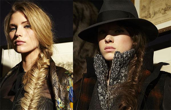 Veronica Beard NYFW hair - fishtail braids