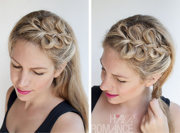 Hair Romance - Bow braids hairstyle ponytail