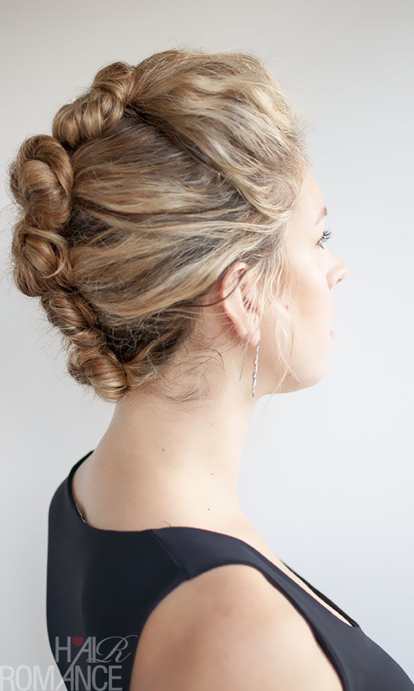 Hair Romance - French Twist and Pin Tutorial for curly hair