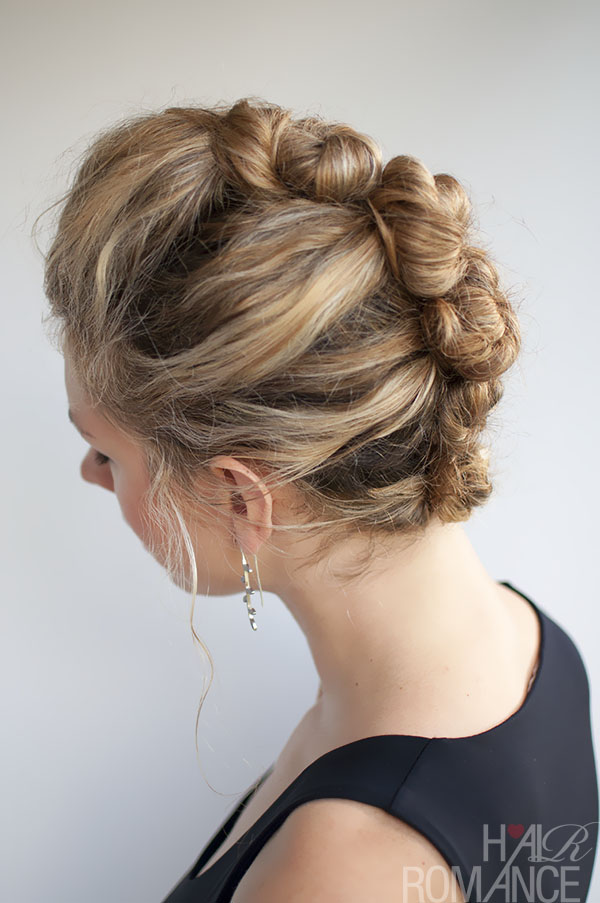 Hair Romance - French Twist and Pin hairstyle in curly hair