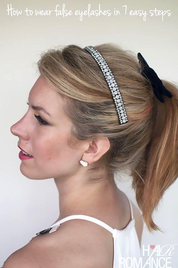 Hair Romance - How to wear false eyelashes in 7 easy steps