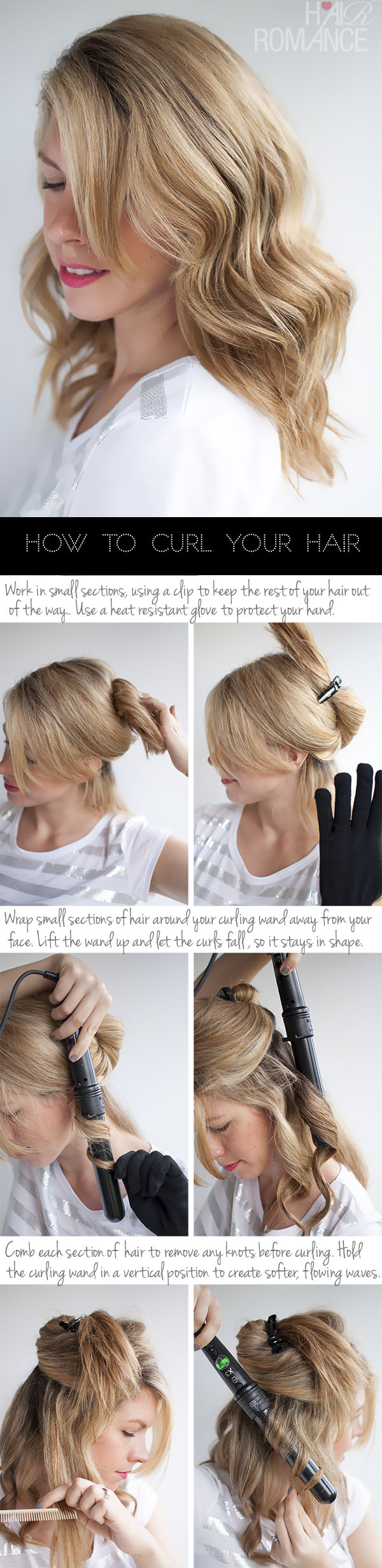 How To Curl Your Hair To Create Soft Loose Waves Using H2d Curling