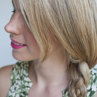 Four strand side braid hairstyle tutorial