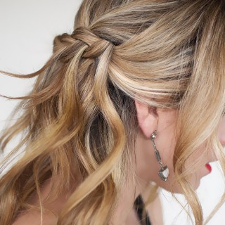Waterfall Plait Hairstyle Tutorial