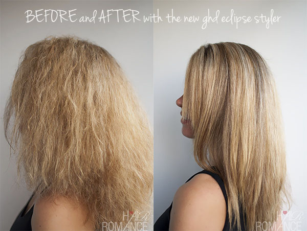 Hair Romance - my hair BEFORE and AFTER using the ghd eclipse styler