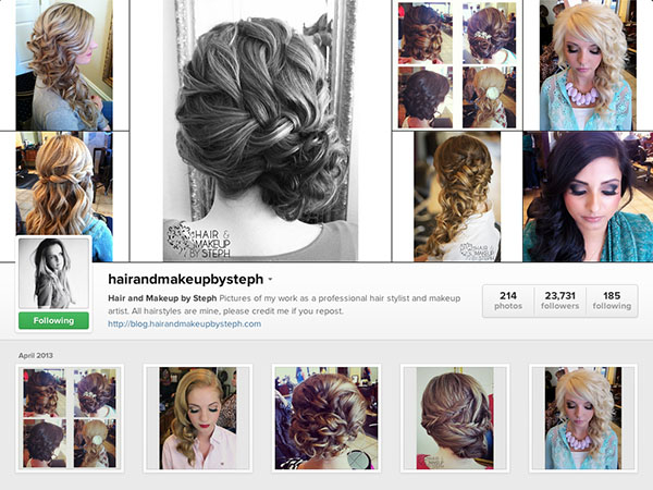 Instagram accounts to follow - Hairandmakeupbysteph