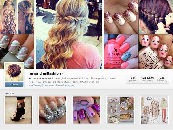 Instagram accounts to follow - hairandnailfashion
