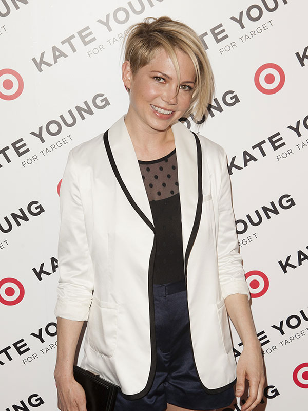 Michelle Williams - shaved short hairstyle