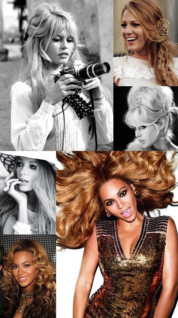 Hair idols Beyonce Blake Lively Brigitte Bardot
