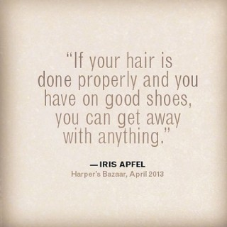 Hair Quotes – Iris Apfel