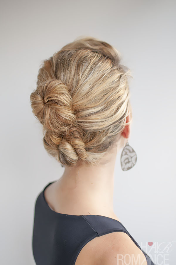 Hair Romance - Double Bun Hairstyle in curly hair
